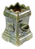 Villcart Ceramic Tulsi Pot -  Light Green