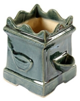 Villcart Ceramic Tulsi Pot - Dark Green