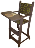 Woody Wood Rubber Wood High Chair
