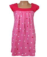 Baby Baya - Short Sleeves Frock With Polka Dots