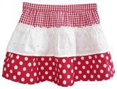 Beebay - Checks And Polka Dotted Skirt