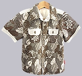 Beebay - Half Sleeves Shirt With Leaf Print
