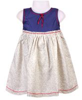 Baby Baya - Sleeveless Printed Frock With Bow