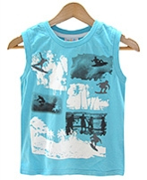 Beebay - Sleeveless T-shirt With Surf Print