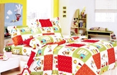 Skap Angel Single Bed Sheet - Red & Green