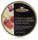 Simpkins Citrus Lemon And Sour Cherry Drops - Travel Sweets