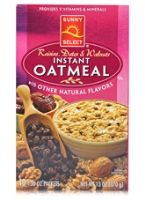 Sunny Select Raisins Dates &amp; Walnuts Instant Oatmeal