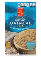 Sunny Select Regular Instant Oatmeal
