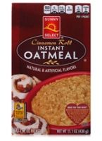 Sunny Select Cinnamon Roll Instant Oatmeal