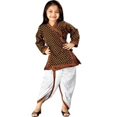 Little India - Ethnic Design Pure Cotton Dhoti Angarkha