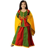 Little India - Ethnic Designer Red Green Lehanga Choli