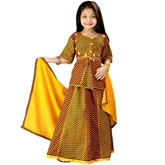 Little India - Rajasthani Zigzag Design Lehanga Choli