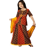 Little India - Rajasthani Bandhej Multicolour Lehanga Choli