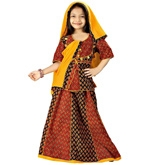 Little India - Colourful Bagru Design Ethnic Lehanga Choli