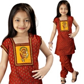 Little India - Rajasthani Bagru Designer Cotton Salwar Suit