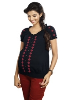 Nine Maternity Top With Embroidery