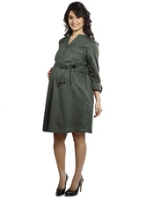 Buy Nine - Maternity Dress With Stand Collar