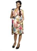 Nine - Printed Maternity Dress Faux Wrap