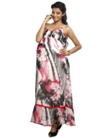 Buy Nine - Maternity Printed Dress Ankle length