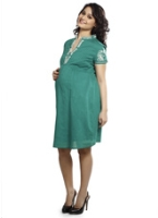 Nine - Maternity Wear Embroidered Dress