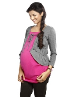 Nine - Maternity Layered Shrug In Soft Jersey