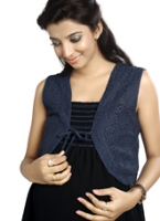 Buy Nine - Maternity Royal Navy Lace Shrug