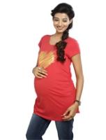 Buy Nine - Heart Print Maternity T-Shirt