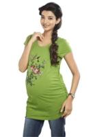 Buy Nine - Flower Print Maternity T-Shirt