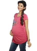 Nine - Maternity Top With Print Pink