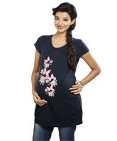 Buy Nine - Printed Blue Maternity T-Shirt