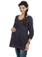 Buy Nine Quarter Sleeves Maternity Blouse