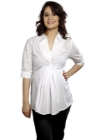 Nine - Knotted Maternity Shirt