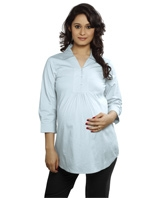 Nine - Stretch Cotton Maternity Shirt