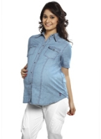 Nine - Denim Maternity Shirt