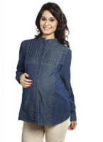 Nine - Full Sleeves Maternity Shirt