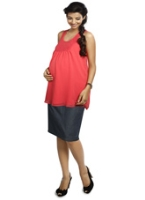 Nine - Denim Maternity Skirt