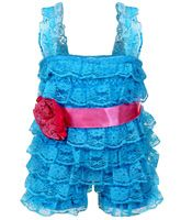 Little Darling - Lace Romper Dress With Frills