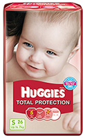 Huggies Total Protection Small - 26 Pieces