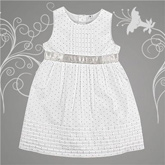 Shopper Tree - Sleeveless White Frock