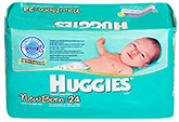 Huggies Imported Diapers New Born - 24 Pieces