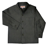 Campana  - Chinese Collar Pin Striped Shirt