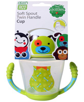 1st Step - Skittle Twin Handle Soft Spout Green