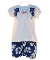 Nauti Nati - Short Sleeves Top With Embroidery Shorts