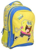 Sponge Bob - Yellow And Blue School Bag 18 Inches - Length 18 Inches