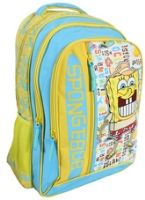 Sponge Bob - Yellow And Sky Blue Bag 18 Inches - Length 18 Inches