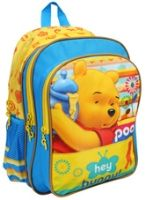 Winnie The Pooh - Blue And Yellow 14 Inches School Bag