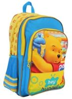 Winnie The Pooh - Blue Yellow 18 inches School Bag