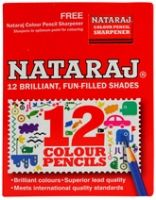 Color Pencils Set 12 brilliant color pencils set with free Natraj shar...