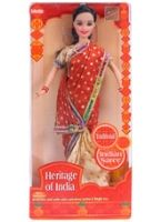 Heritage Of  India Saree Doll 3 Years+, 30 cm, Lovely bendable doll with side swin...