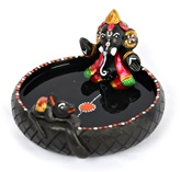 ExclusiveLane Terracotta Handpainted Pound Ganesha